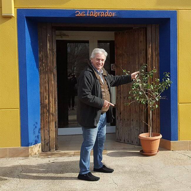 Juan Sanz, propietario del Hotel Rural 26 Labrador en Calatorao